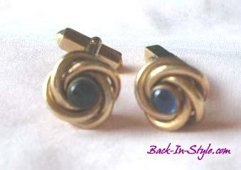 gold-knot-blue-cab-cufflinks-1