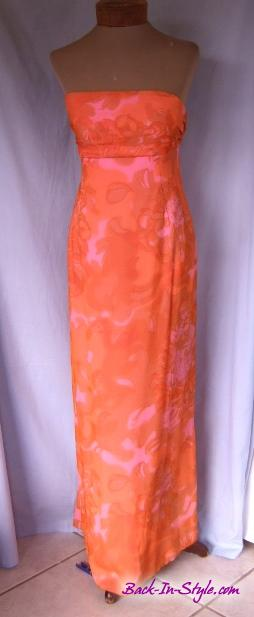 pink-orange-chiffon-strapless-dress-4